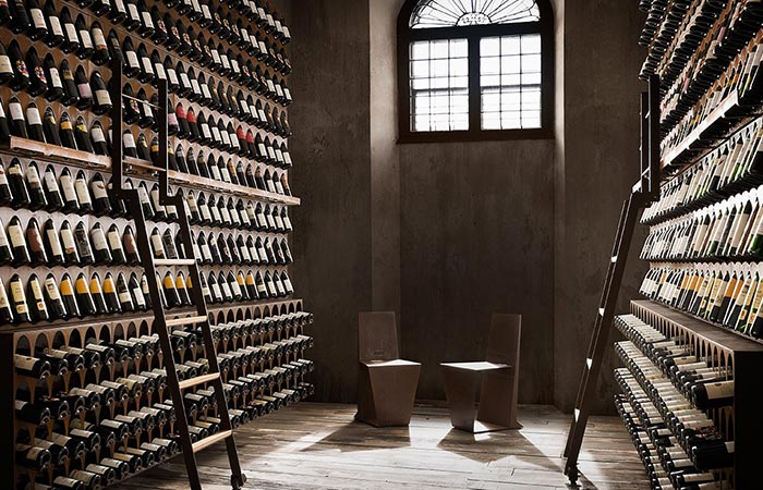 Living Edge Wine Library On Two Walls