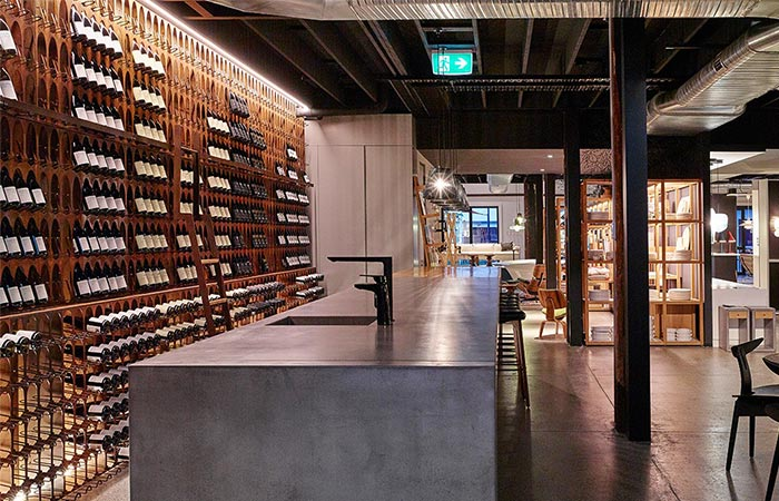 Living Edge Wine Library In A Restaurant