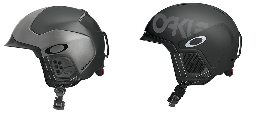 Oakley Mod 5 and Mod 3 helmets side view