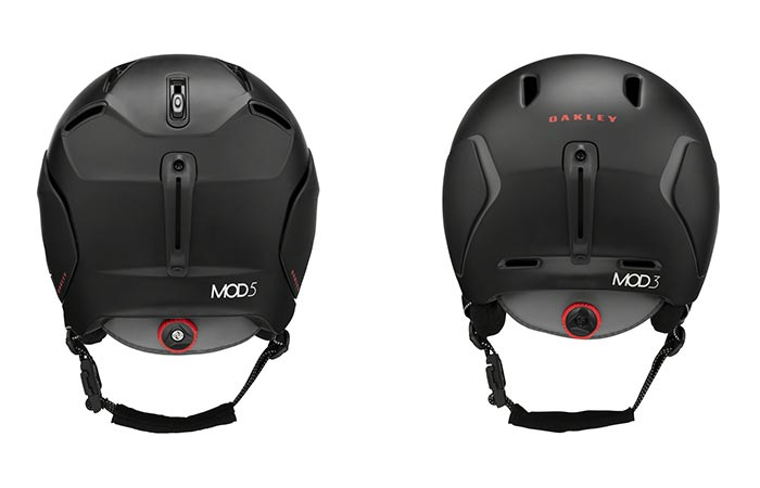Oakley Mod 5 and Mod 3 helmets back view