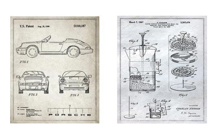 Two Patent Prints