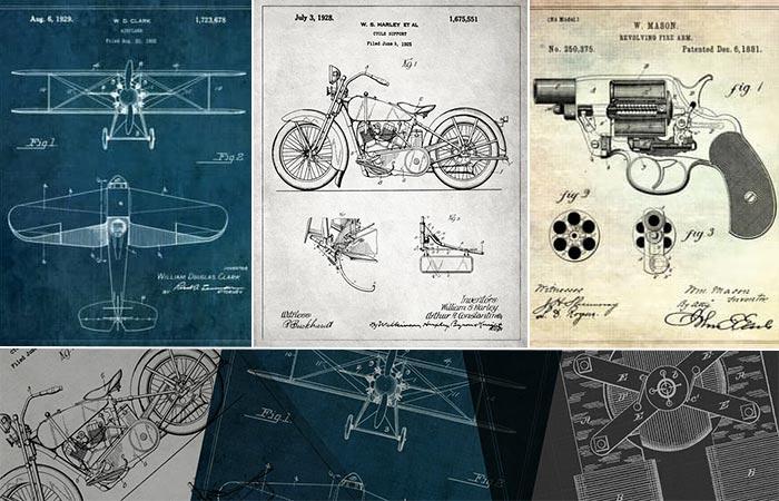 Three Patent Prints