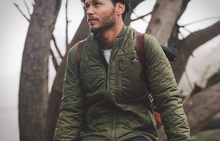 A Guy Wearing Olive Penfield Oakdale Jacket