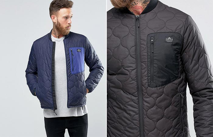 Penfield Oakdale Jacket In Navy And Black