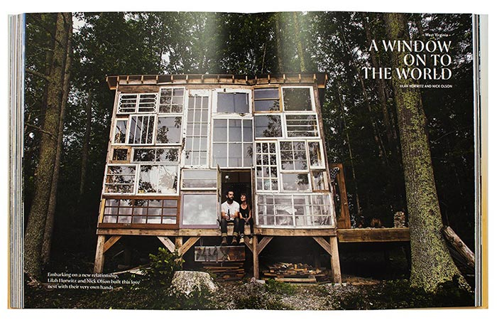 A page from The Hinterland: Cabins, Love Shacks And Other Hide-Outs