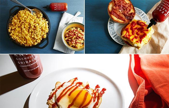Weak Knees Gochujang Sriracha On Different Food