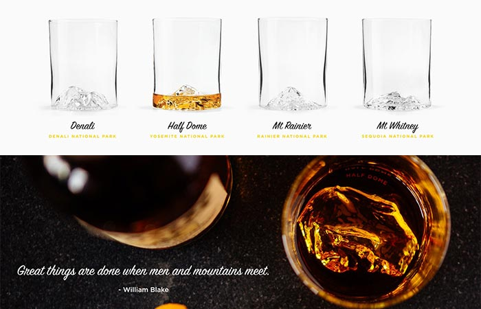 Four Whiskey Peaks Glasses