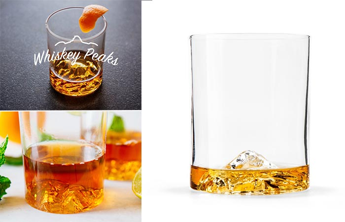 Three Images Of Whiskey Peaks Glasses