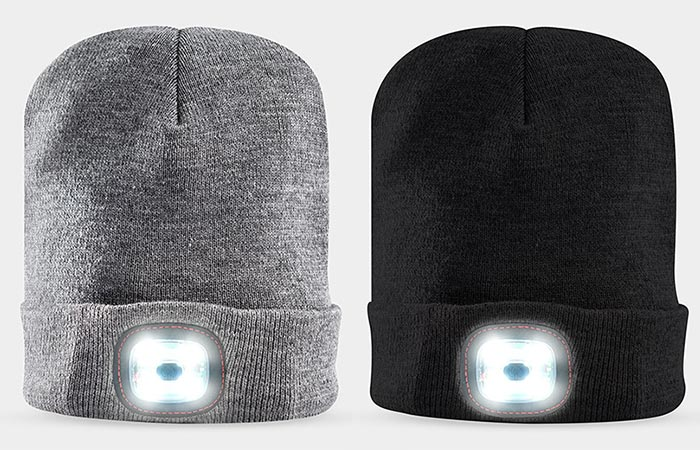Grey And Black X-Cap Light Up Hat