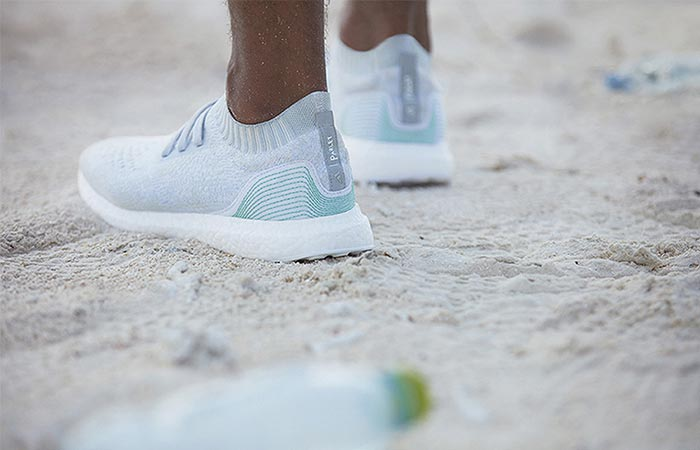 a shoe made from recycled plastic ocean waste