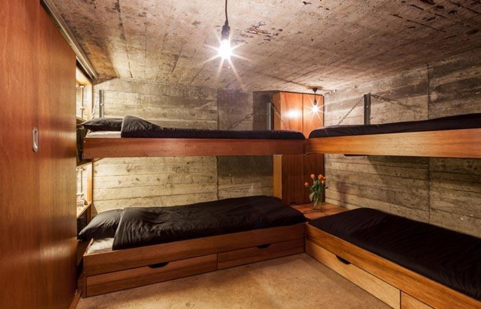 the main bunker room