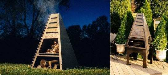Blaze Tower | An Outdoor Firepit, Grill And Smoker