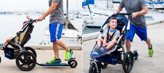 Bobtail | A Skateboard Attachment Strollers