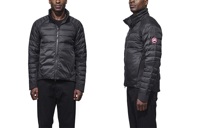 a guy wearing Canada Goose HyBridge Perren Jacket