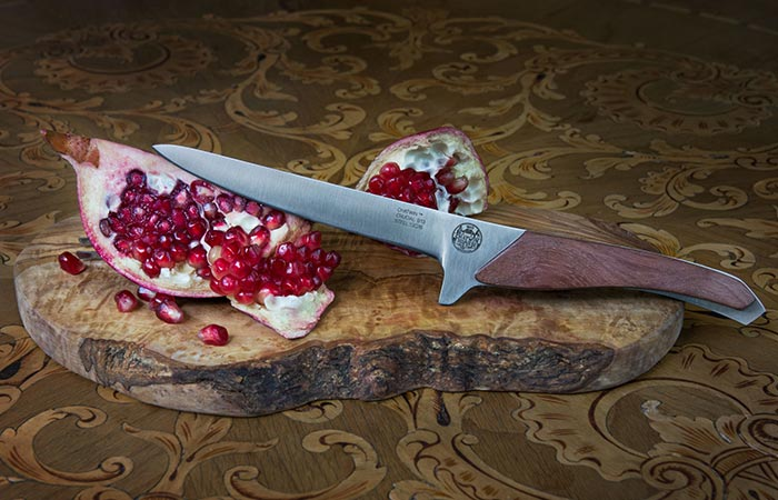 Chatwin Crucial Paring Knife that cut through a pomegranate.