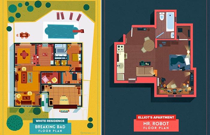 Breaking Bad and Mr. Robot Floor Plans