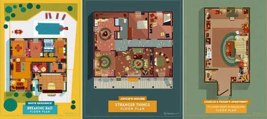 Home Floor Plans From Awesome TV Shows