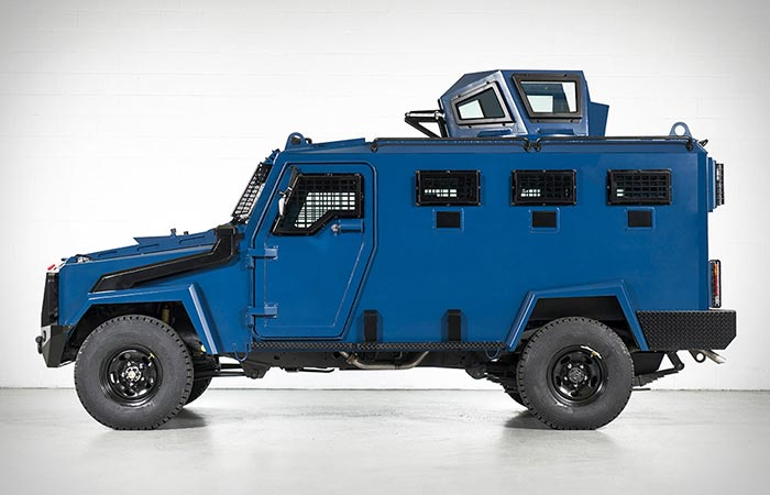 Side view of the Inkas Hudson APC