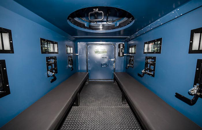 Internal view of the Inkas Hudson APC