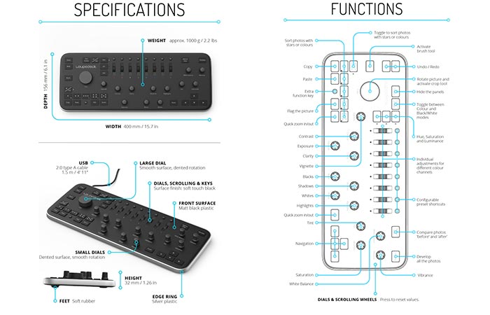 Loupedeck specifications in addition to its functions