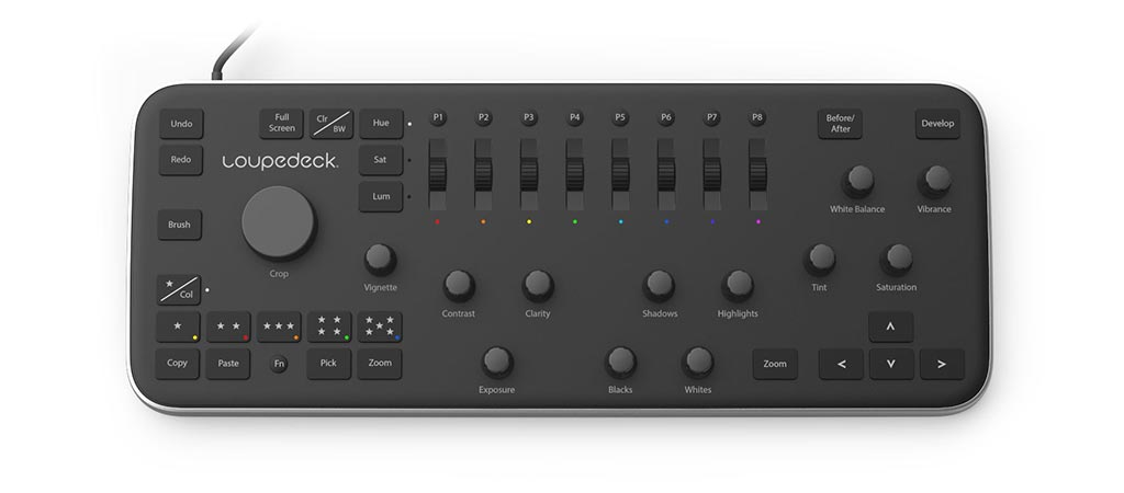 Top view of the Loupedeck