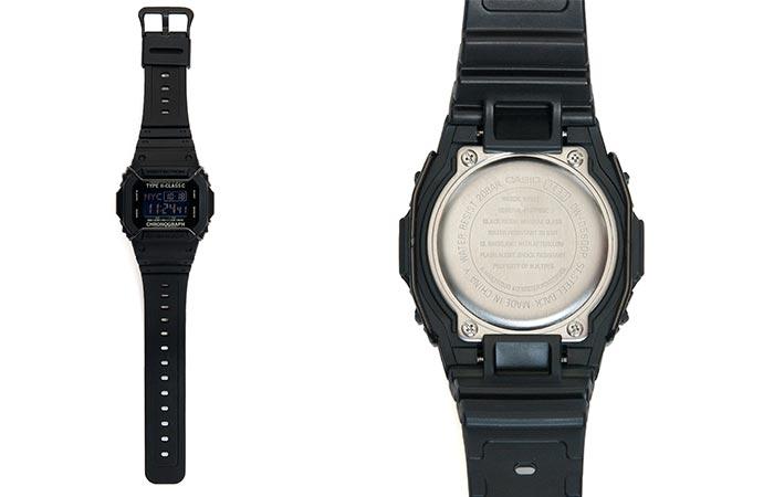 a black casio watch