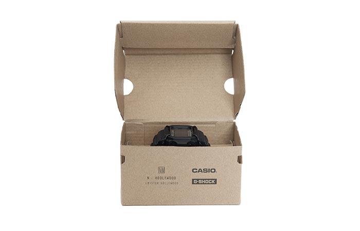 a black watch in a cardboard box