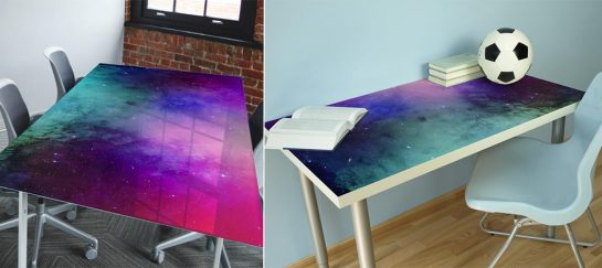 Nebula Water Colour Tabletop Wrap