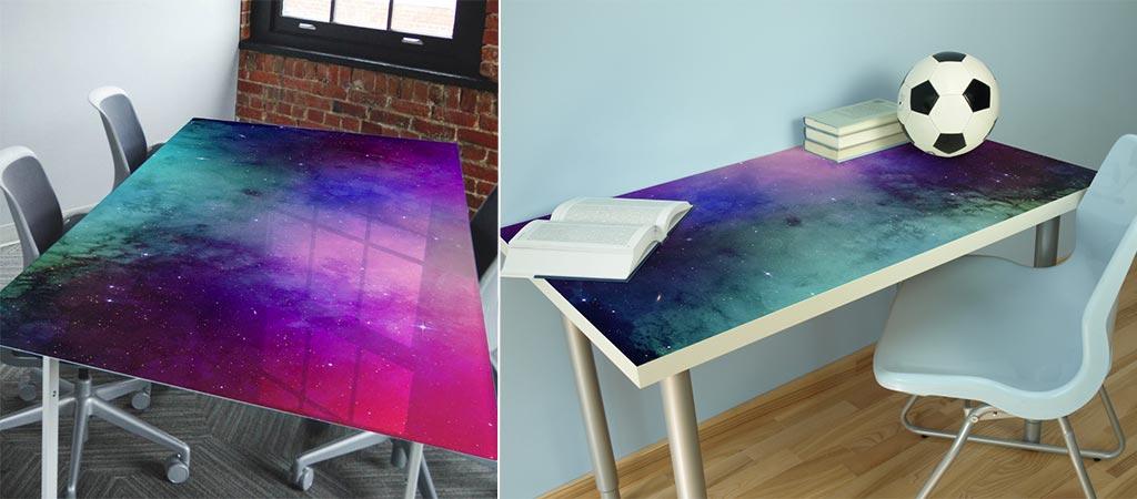 Nebula Water Colour Tabletop Wrap