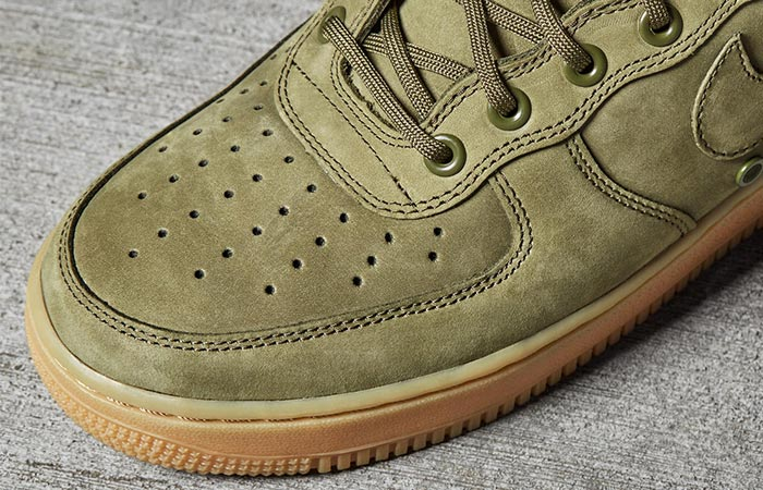 a detail on the Nike Special Field Air Force 1