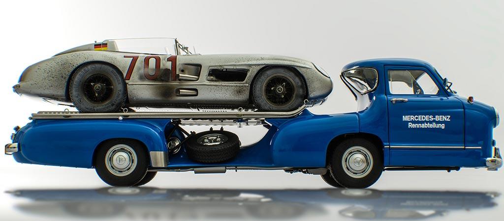 Racing Heroes Mercedez Benz Blue Wonder with Dirty Hero 300 SLR