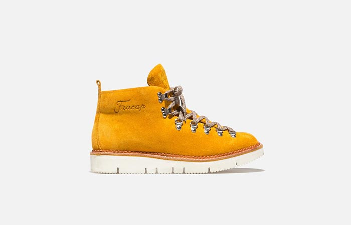 mustard suede hiking boots