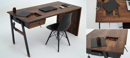 Sean Woolsey's Waterfall Desk