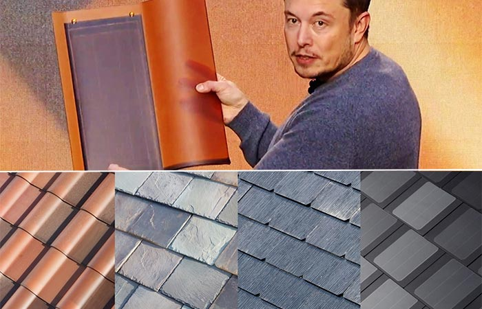 Elon Musk Showing New Solar Roof Tiles