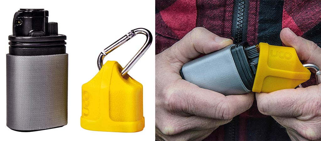Two different views of the UCO Torch Lighter