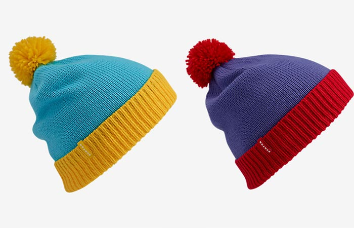 Burton X South Park Cartman and Stan's beanies.
