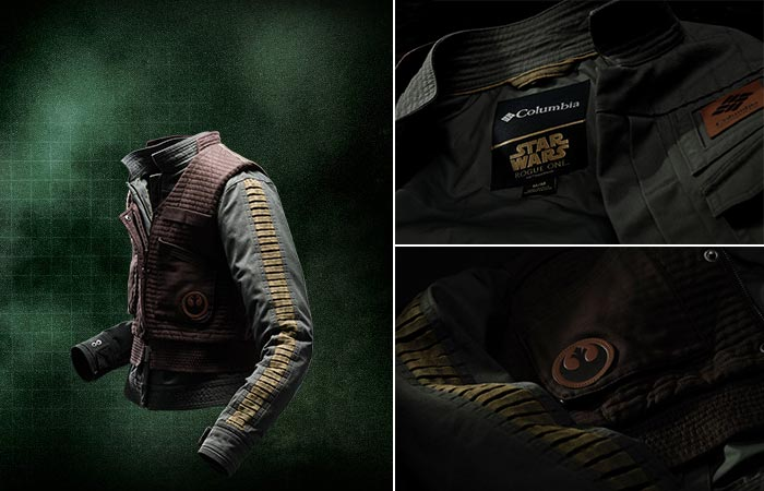 Columbia X Star Wars Jyn Erso jacket and vest