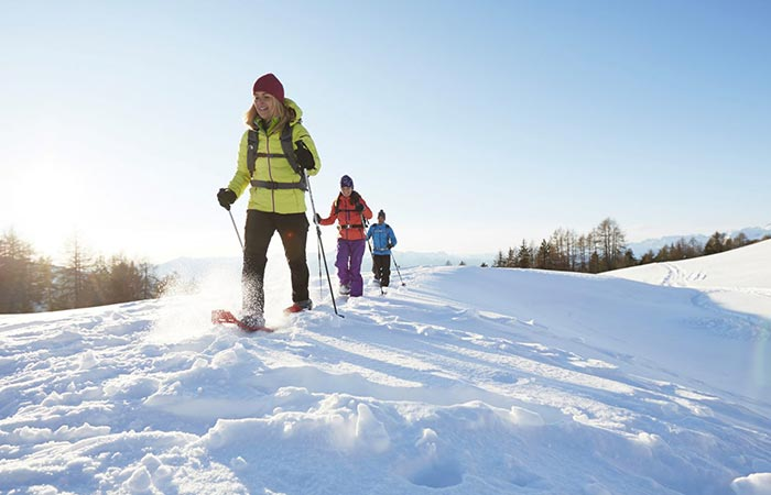 Snow hike with a Hotel Hubertus guide