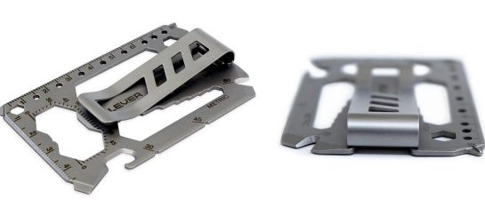 Lever Gear Toolcard | Multitool Money Clip