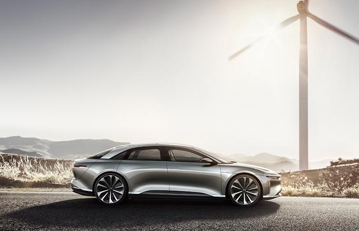 Lucid Motors Air side view
