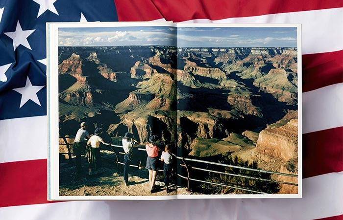 a page from the National Geographic photo book showing a canyon