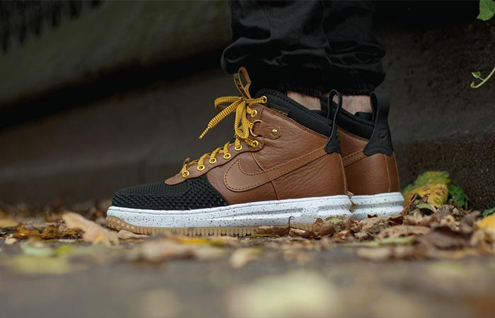 a pair of Nike Lunar Force 1 Duckboots