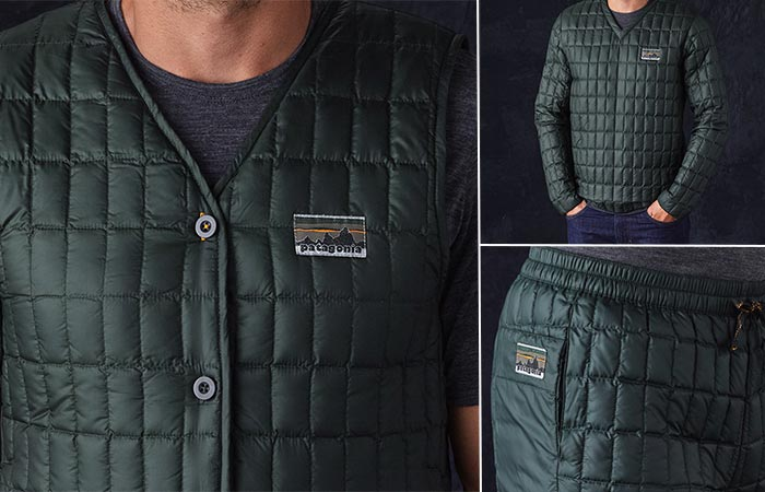 Patagonia vest, pants and jacket
