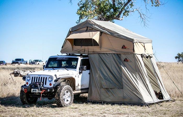 Tepui Autana Sky tent on a Jeep