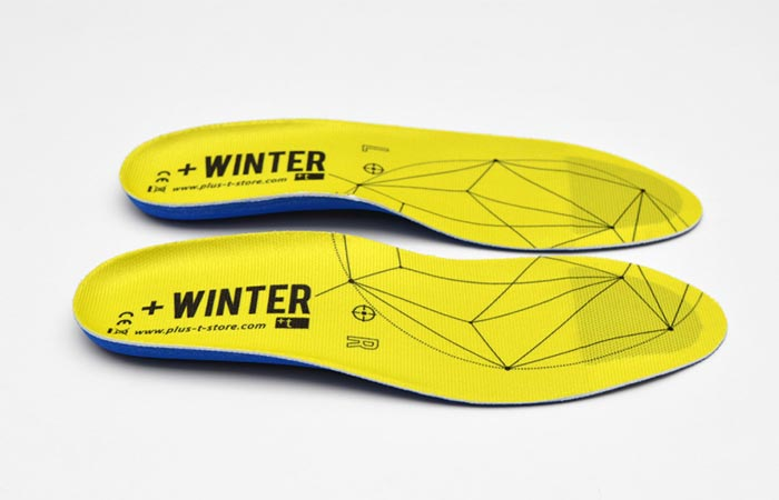A Pair Of Yellow +Winter Heated Insoles