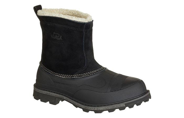 black Woolrich Wooly Slip Boot
