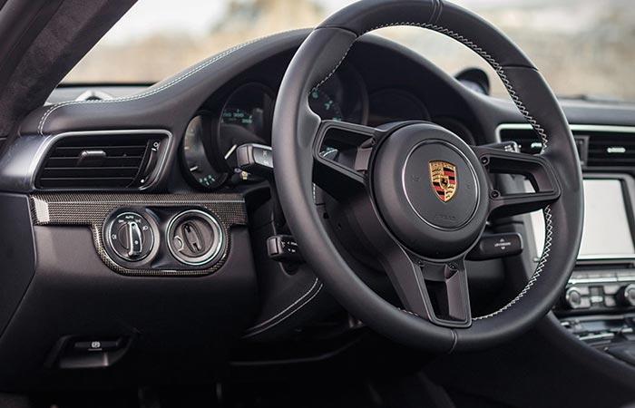 Interior of the 2016 Porsche 911 R Steve McQueen tribute