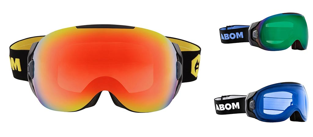 Abom Anti-Fog Ski Goggles in three different colors