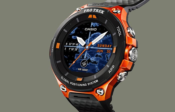 Casio Pro Trek WSD-F20 in orange