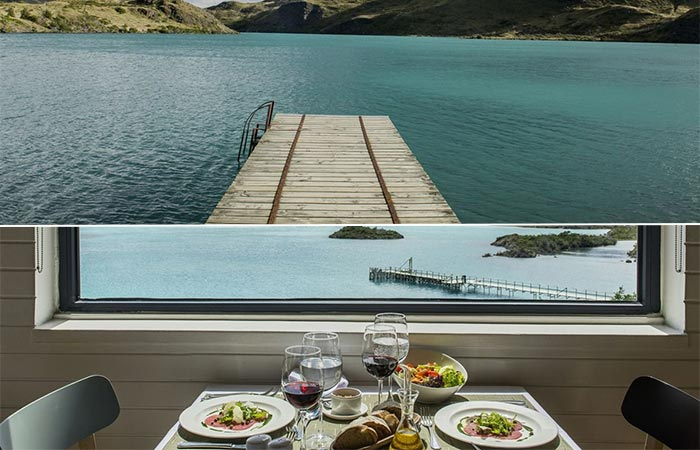 A view from the Explora Patagonia Hotel